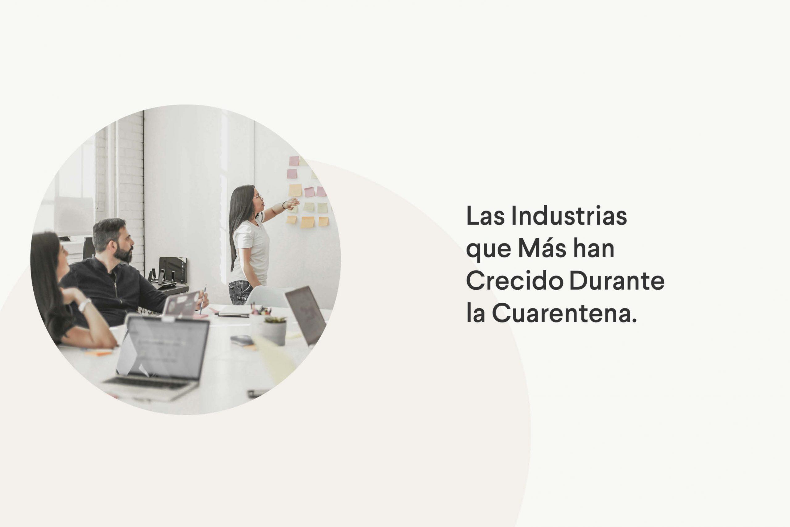 Las industrias que más han crecido durante la cuarentena